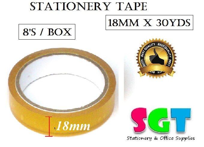 FIX  Stationery Tape 18mm x 30 Yds (8`s/Box)