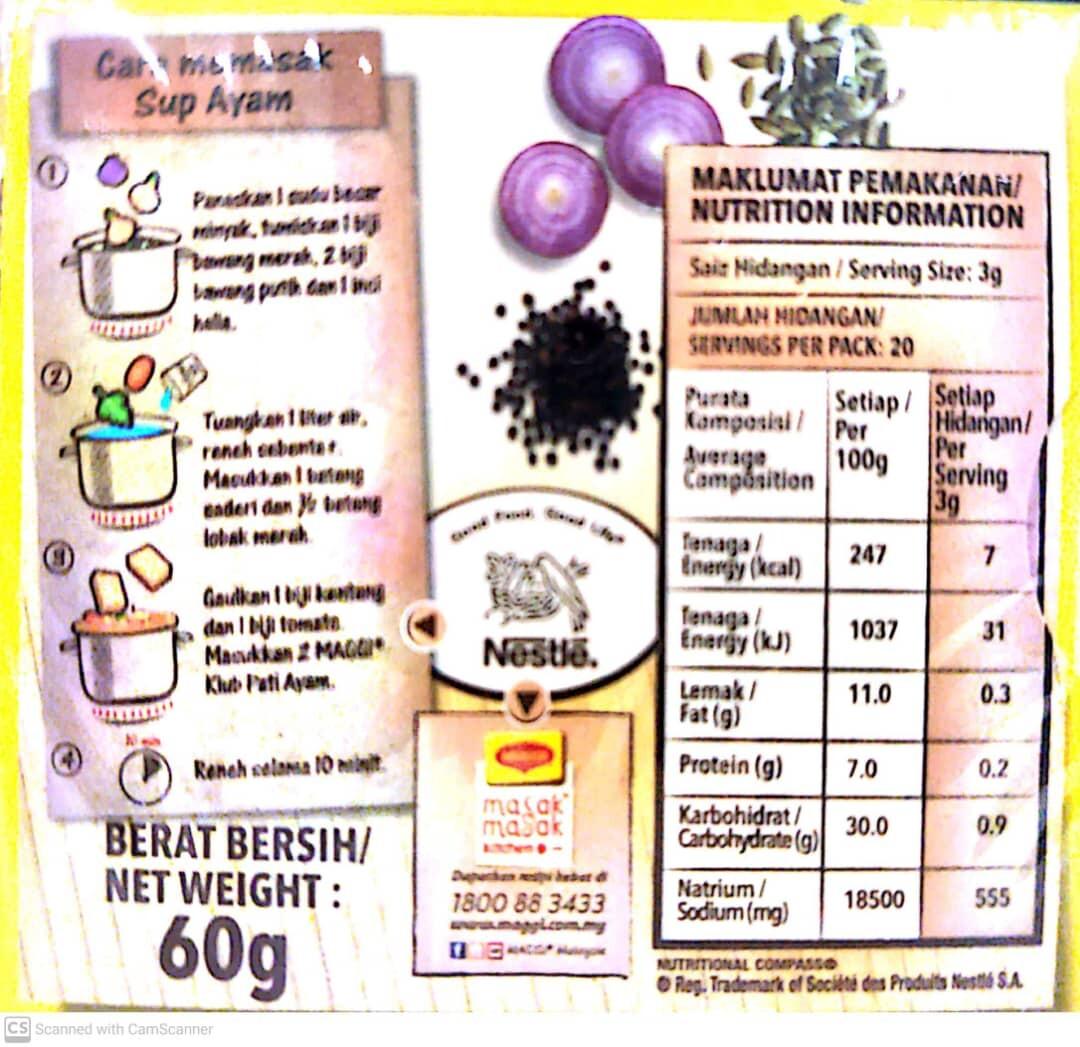 MAGGI Chicken Stock Cube 60gm, Kiub Pati Ayam