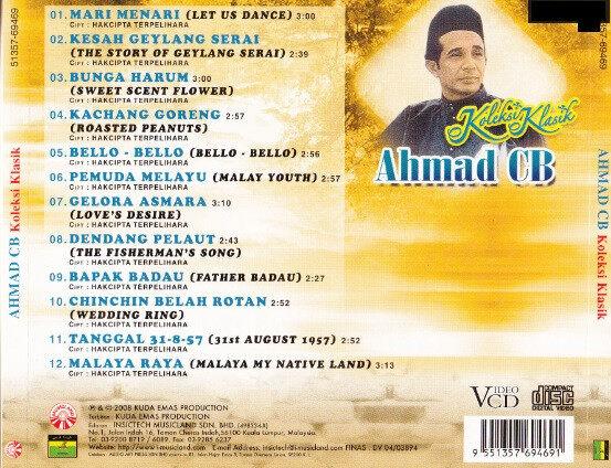 Ahmad CB Koleksi Klasik CD Pop Original New And Sealed