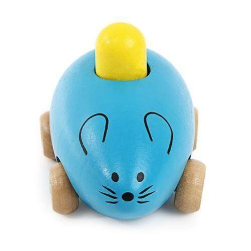 YOULEBI MUSIC MICE SQUEAKING WOODEN TOYS KIDS GADGET (BLUE) toys education