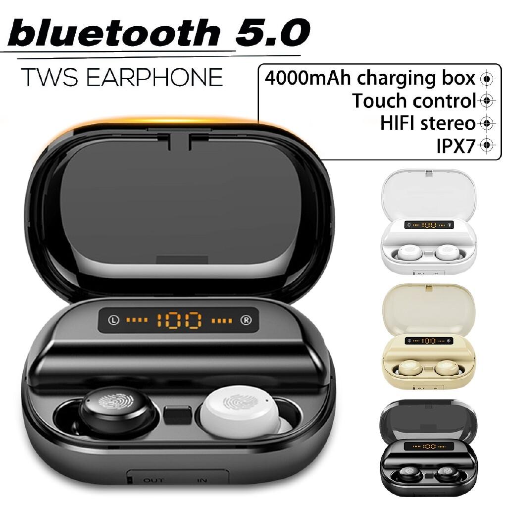 Over-Ear Headphones - BLUETOOTH 5.0 MINI Head SET LED WIRELESS Earphones In-Ear Earbuds Headphones - BLACK