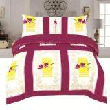 BED CLUB: Single Fitted Sheet Set - 100% Cotton Rich: 330 TC:- (Basic-843)