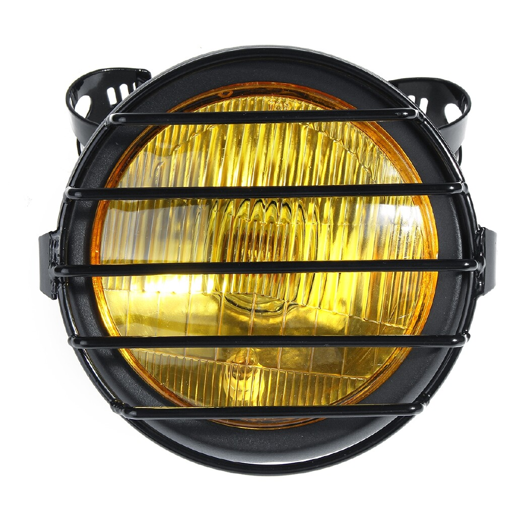 Automotive Tools & Equipment - 35W 6.5'' Round Motorcycle Motorbike Headlight Side Mount Fog Headlamp Bulb - Car Replacement Parts