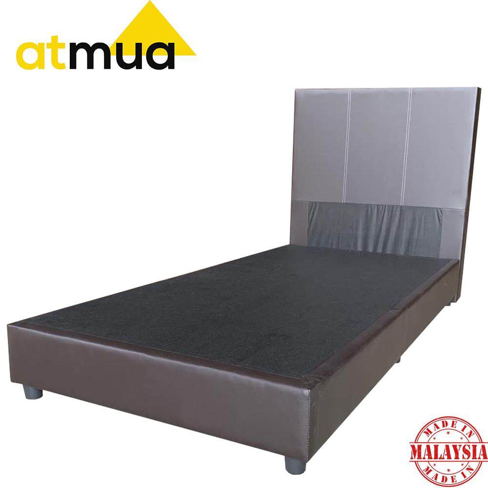 Atmua Groot Single Divan Bed [PVC Upholstery] *Strong and Durable (Not Included Mattress Bed Frame