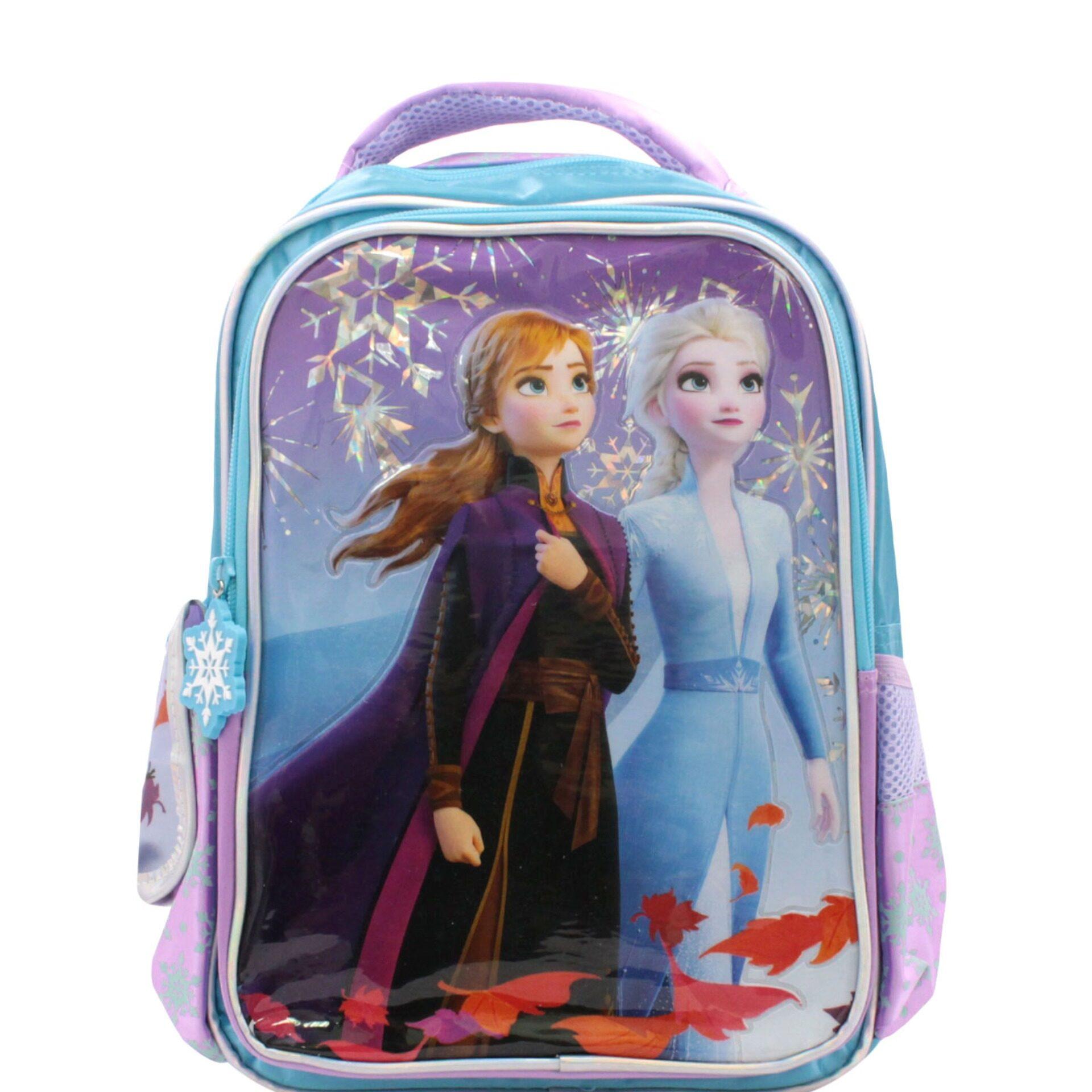 Disney Frozen 2 Princess Elsa, Anna & Olaf Pre School Bag (Light Purple & Blue) (Age 4 & Above)