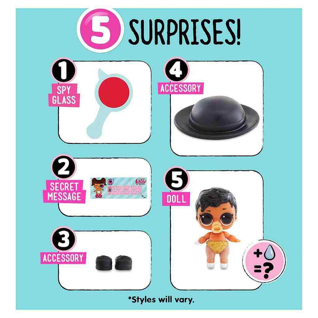 L.O.L. 5 Surprise Ball & Under Wrap Sparkle Series Doll With Surprise Doll!