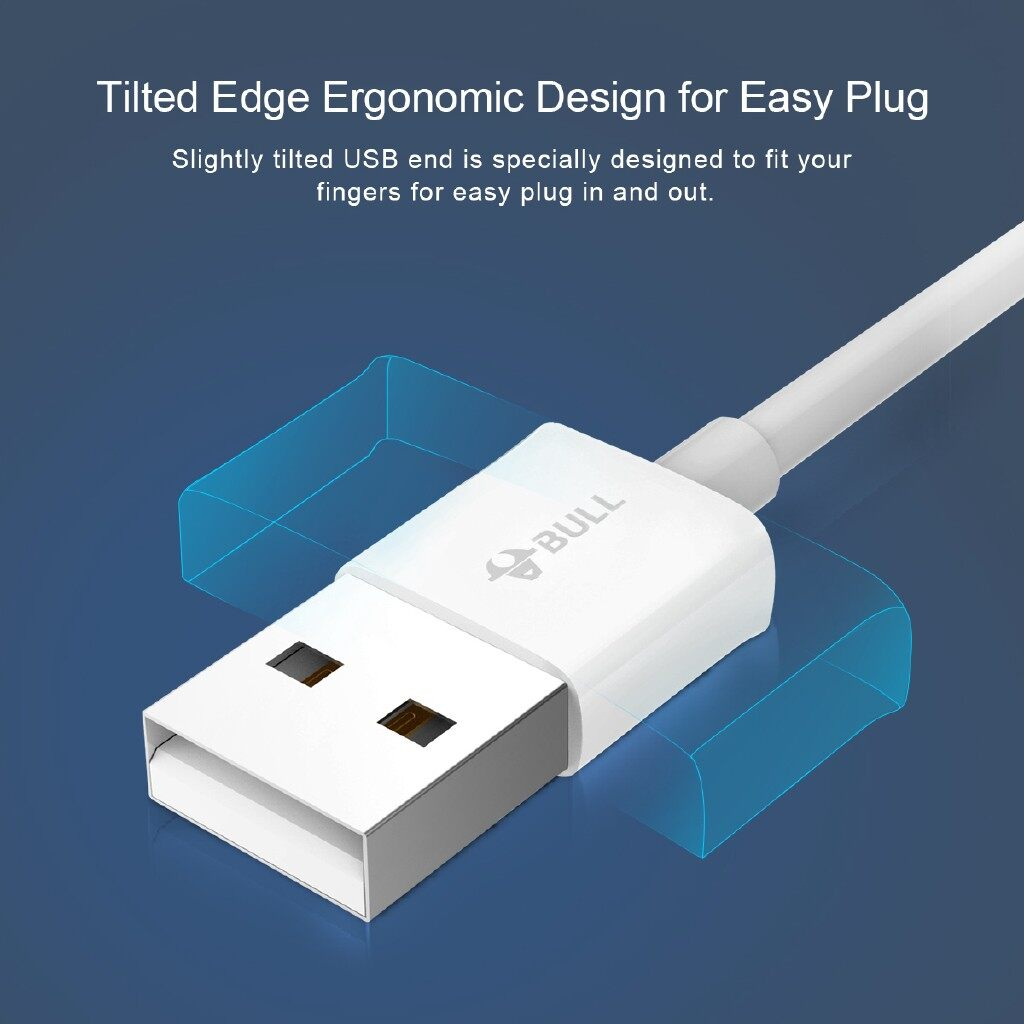 Mobile Cable & Chargers - BULL GN-USJ710 2.1A MFi Lightning to USB Fast Charging Data Cable