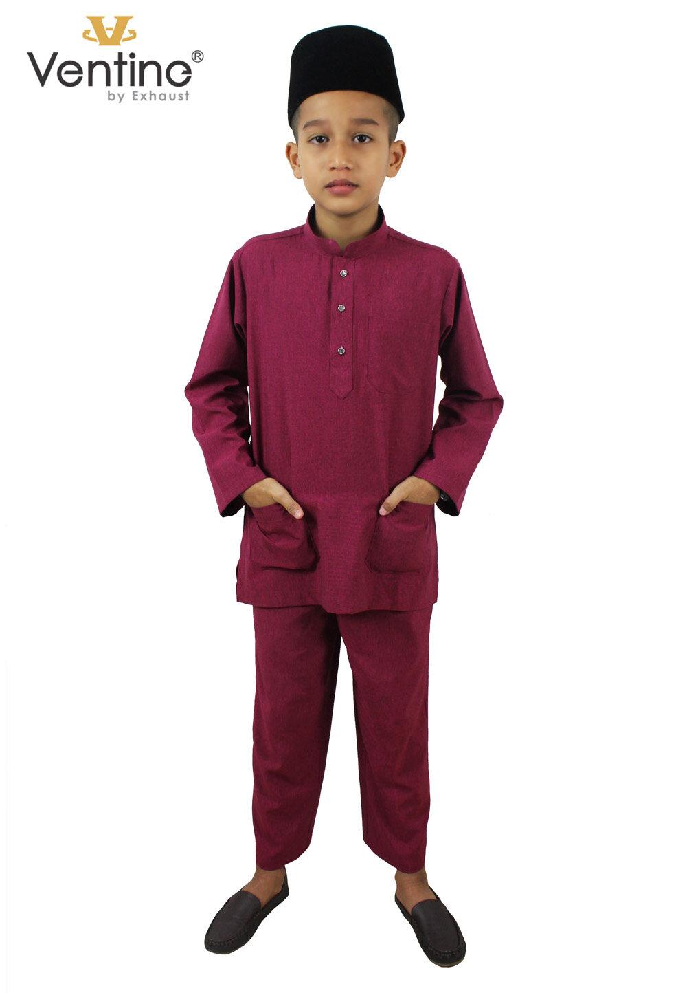 Ventine Baju Melayu Modern-SLIM FIT V2200-BMM(S)B#2-14-40
