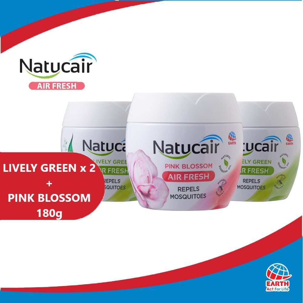 Natucair Air Fresh Mosquito Repellent Gel Assorted Variants Bundle of 3 [180g x3]EHB000013i