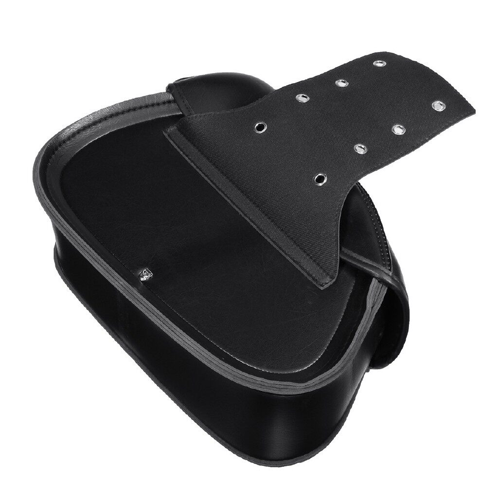 Moto Accessories - 2 PIECE(s) Motorcycle PU Leather Side Saddle Bags Saddlebag Storage Black For Harley - Motorcycles, Parts