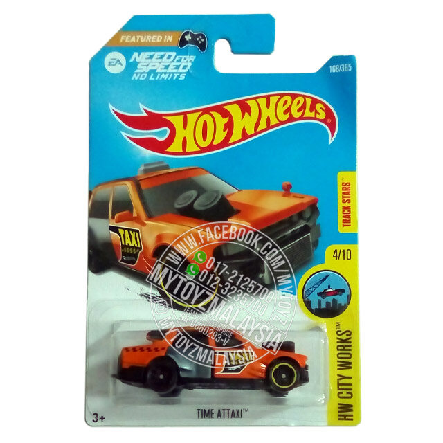 HOT WHEELS 2017 HW City Works Time Attaxi (Orange)