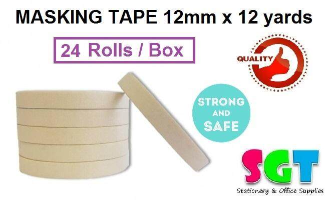 Masking Tape 12mm x 12 yards ( 24 Rolls / Pack )