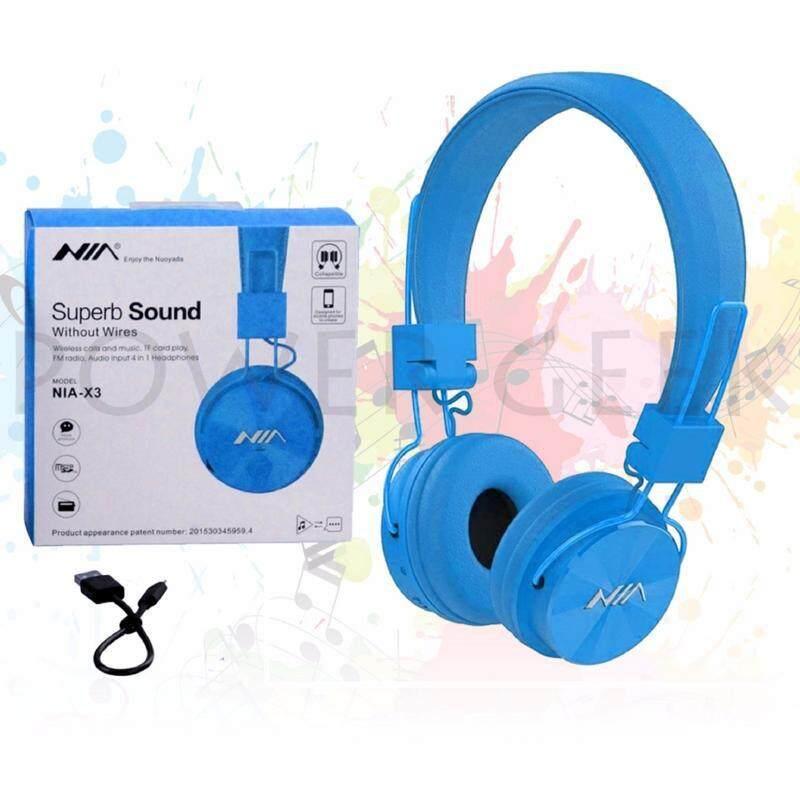 NIA X3 HeadPhone (Fresh Import) Special Price BLUE