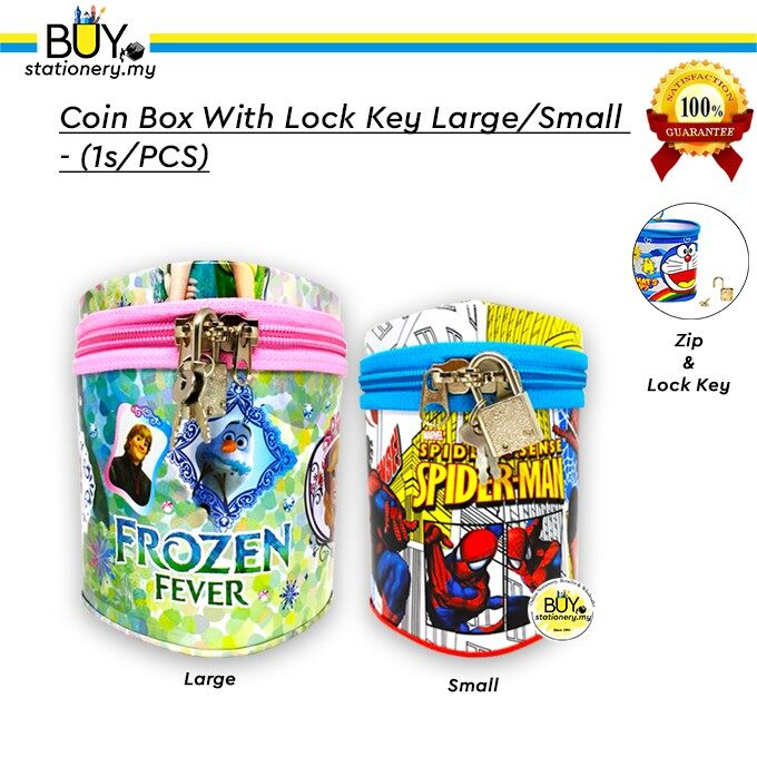 Coin Box With Lock Key Large/Small - (1s/PCS)