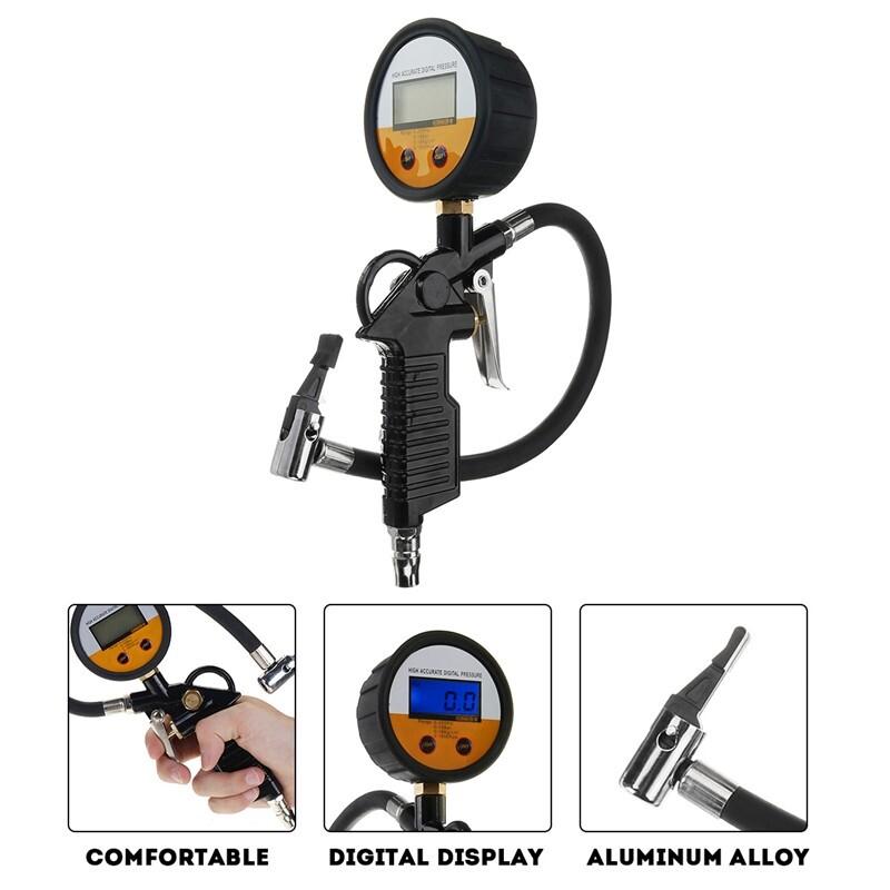 Windscreen Wipers & Windows - Car Professional Digital Tyre Inflator Gauge Air Line Tyre Pump Pressure Tester - Car Replacement Parts
