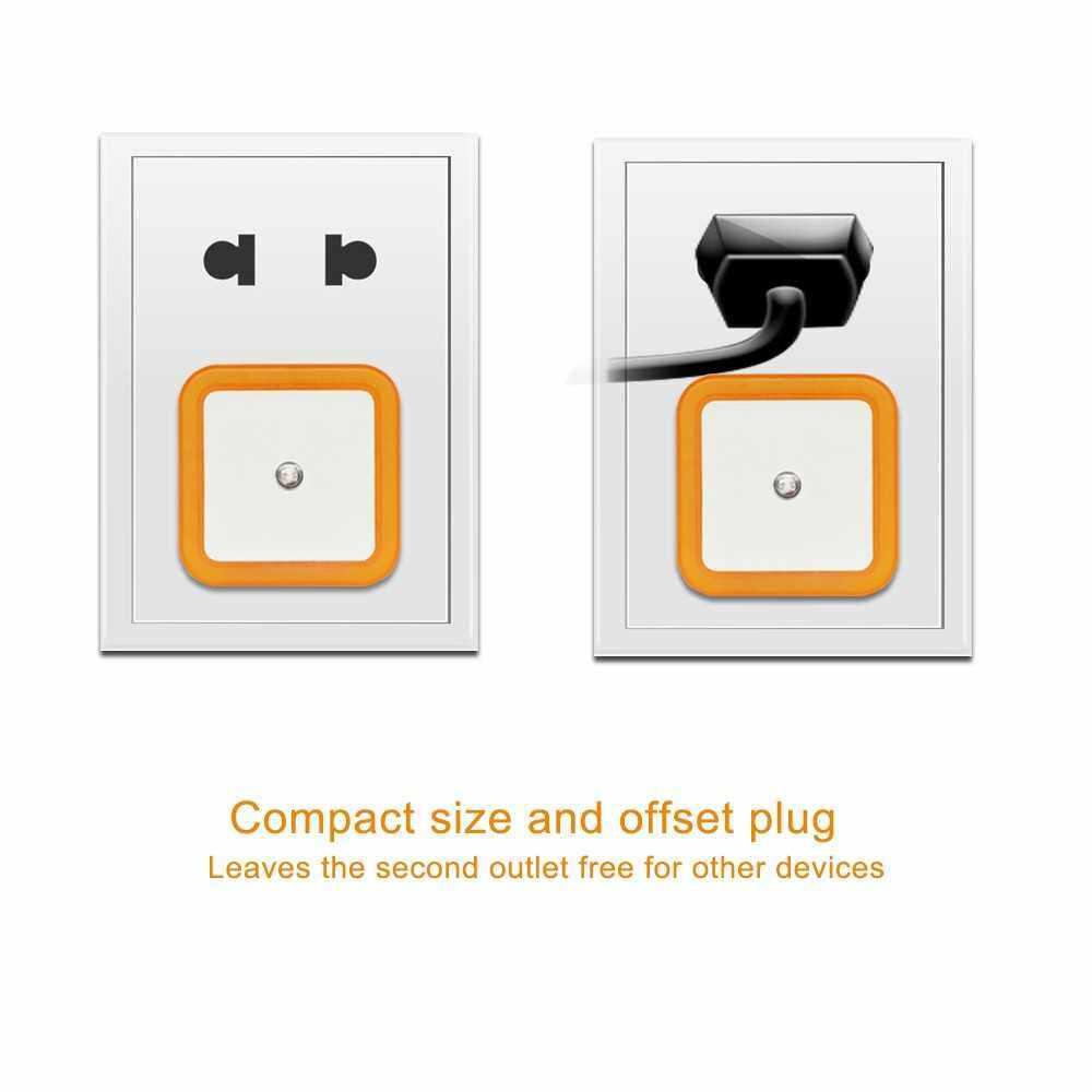 0.4W 4 LED Smart LED Light Sensor Lamp Plug-in Eletric Energy-saving Small Night Light Orange (Orange)