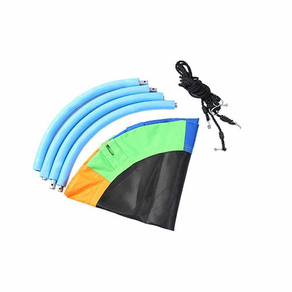 Best Selling Outdoor 1M 40inch Saucer Rotate Tree Nest Swing 900D 600lbs Flying Giant Rope Round Swing (Standard)
