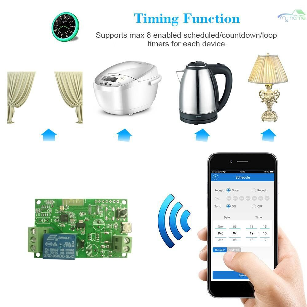 DIY Tools - DC5V / USB5V Wifi Switch WIRELESS Relay Module Smart Home Automation Modules Phone APP - GREEN