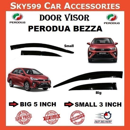 Perodua Bezza 3inch Door Visor /air press?1set 4 Door?