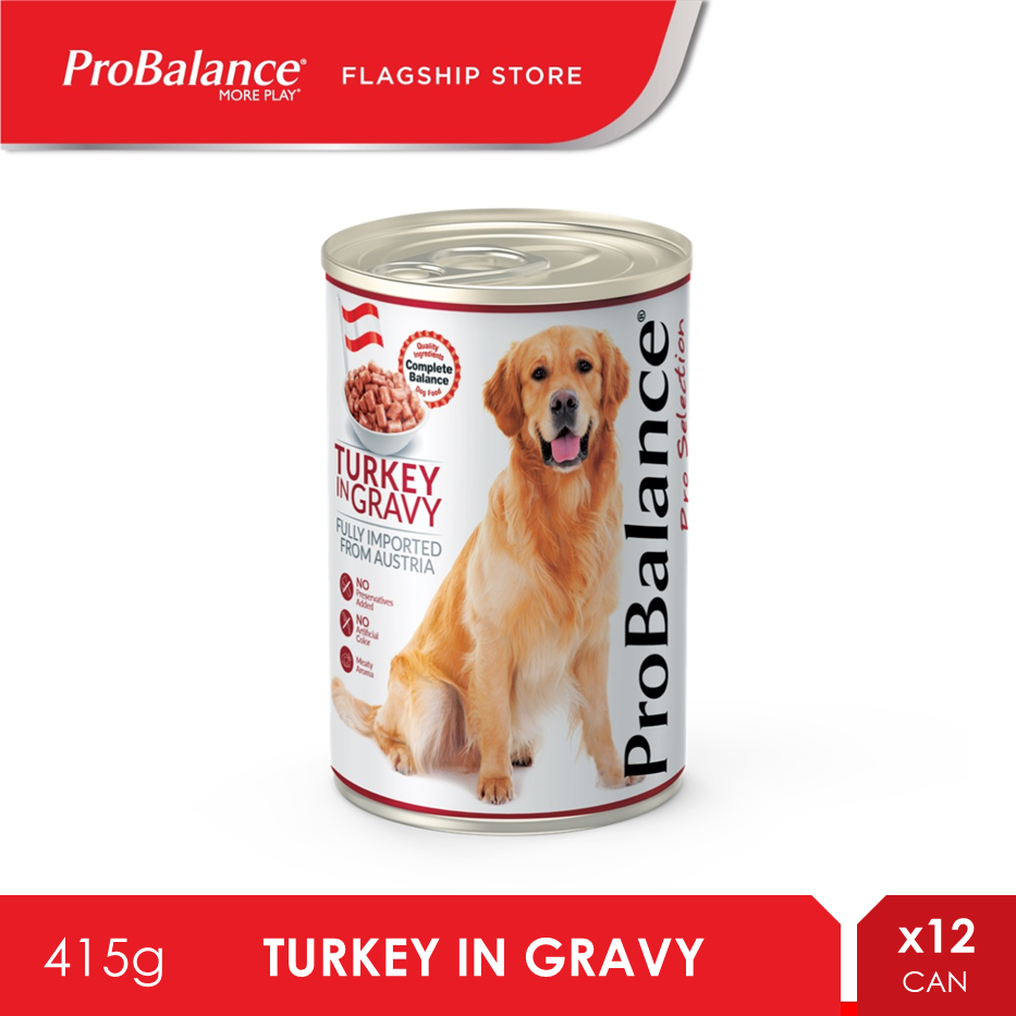 ProBalance 415G Turkey in Gravy Wet Dog Food X 12 Cans [makanan anjing]