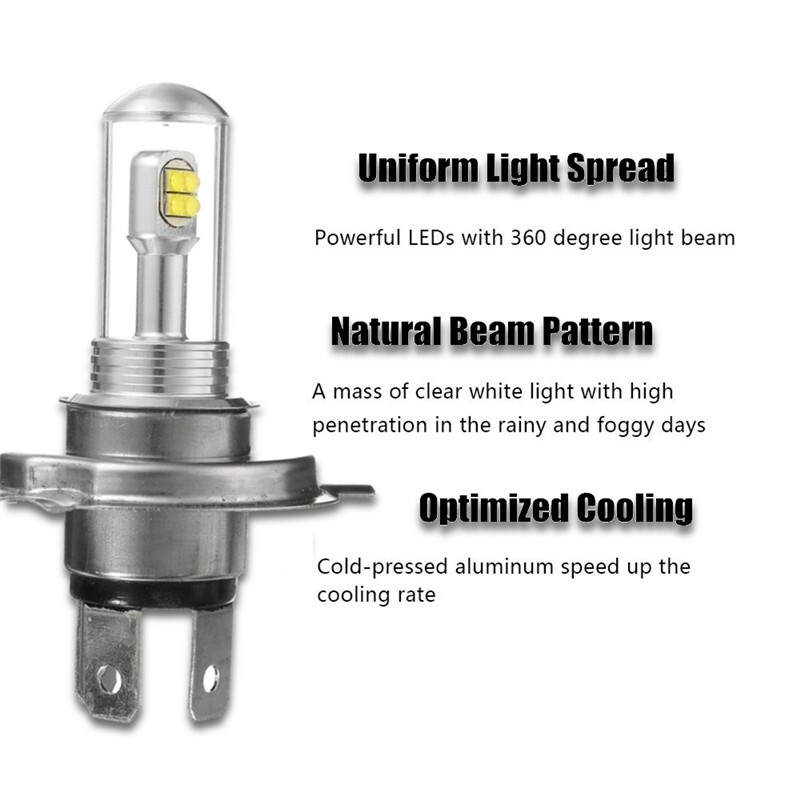 Car Lights - 2x 9005 9006 H11/H8 H1 H3 H4 H16 H7 LED Fog Driving Light Bulb Car DRL Headlight - Replacement Parts