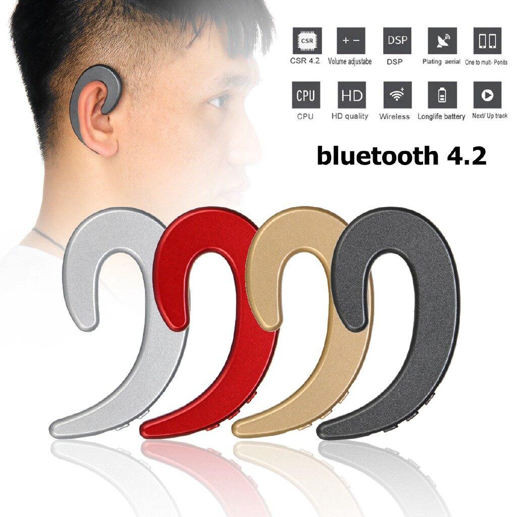 On-Ear Headphones - BLUETOOTH 4.2 Wireless Bone Conduction Head SET Stereo Sport Headphone - GOLD / SILVER / RED / BLACK