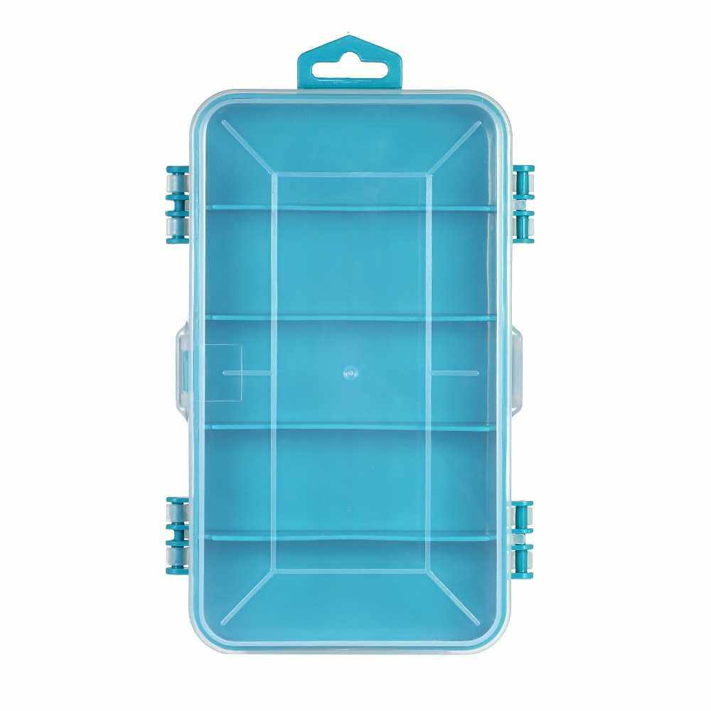 PENGGONG Translucent Utility Component Storage Box Anti-Tarnish Electronic Components and Parts Box Container (Blue)