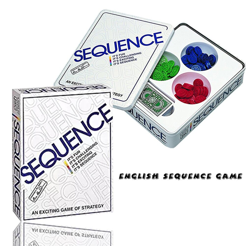 Home Decor - Party Games Sequence Playing Cards Game An Exciting Game of Strategy Friends Pla - ENGLISH 2 SETS / ARABIC 1 SETS