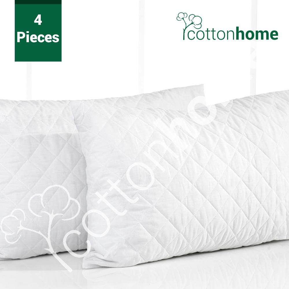Padded Pillow Protectors 4 Pcs : Double sided padded *ASSORTED*