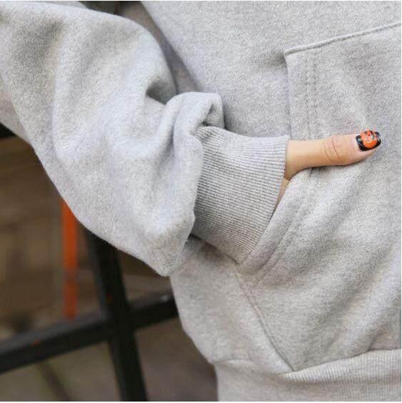 Ready Stock Korean Oversize Plain Women's Jacket Outerwear Women's Hoodie