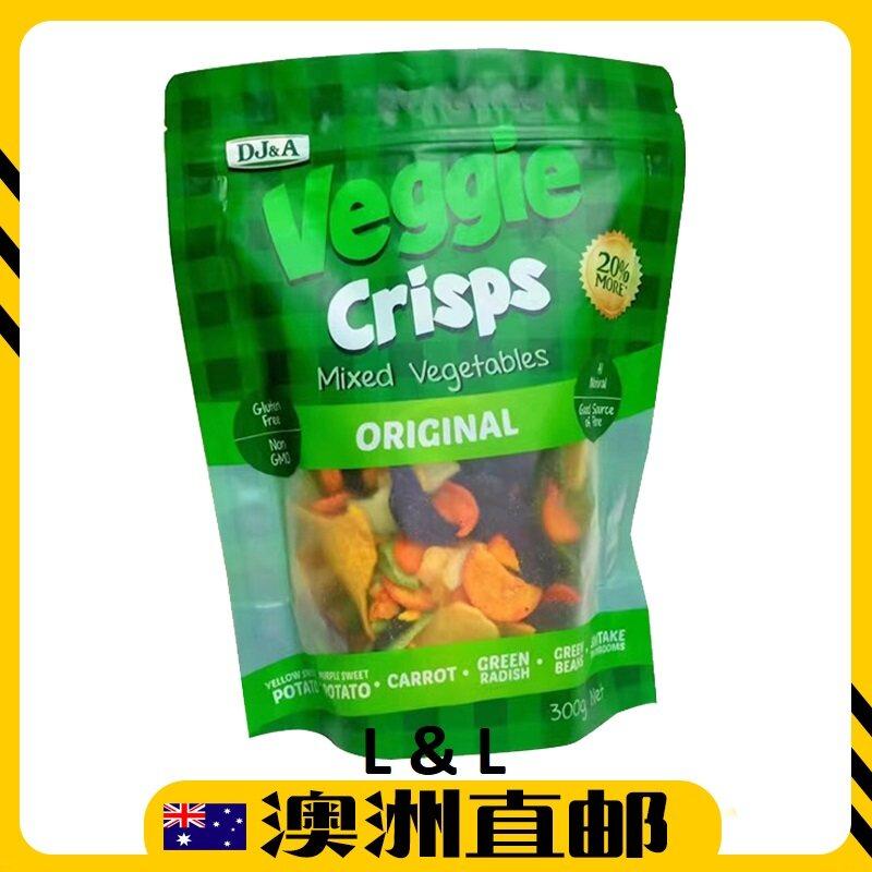 [Pre Order] Australia Costco DJ&A Veggie Crisps healthy snacks vegetable chips ( 300g ) (Import from Australia)