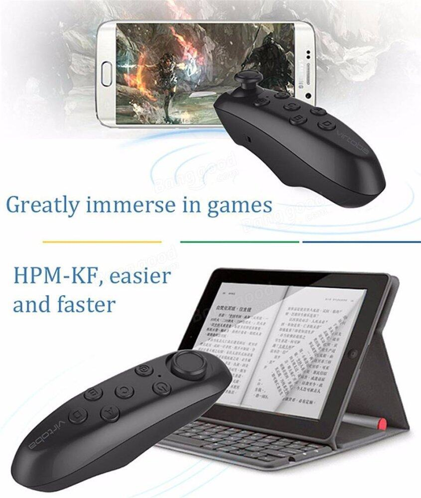 Bluetooth Remote Controller VR Box Multifunction Wireless Universal Mini Wireless Gamepad Joystick Compatible with 3D Virtual Reality Glasses Google Cardboard Selfie Camera Shutter Music Player iPhone iPad Tablet PC TV (Black)