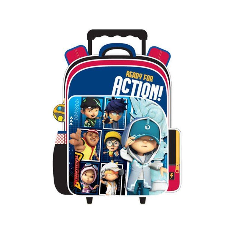 BoBoiBoy Pre School Trolley Bag - Blue Colour