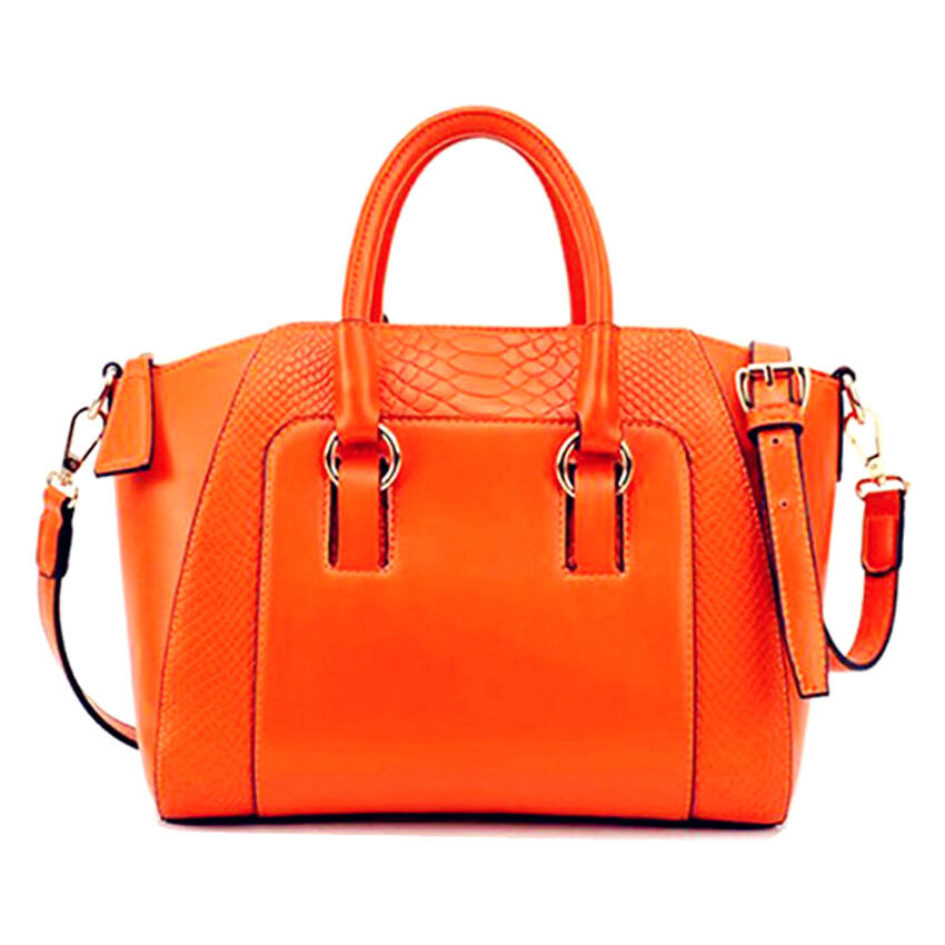 Bolster Store Korean Faux Crocodile Leather Bag ( Orange )