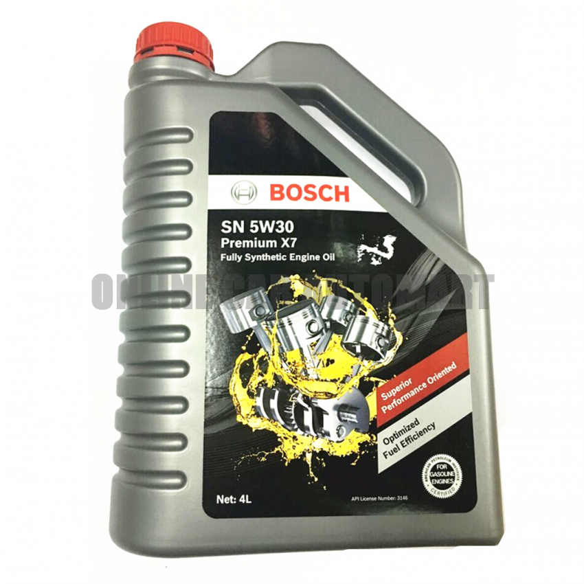 BOSCH SN 5W30 PREMIUM X7 FULLY SYNTHETIC ENGINE OIL 4 LITER