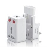 Buy 1 Free 1: 1 Unit All-in-One Universal Travel Adapter Free 1 unit USB Cable