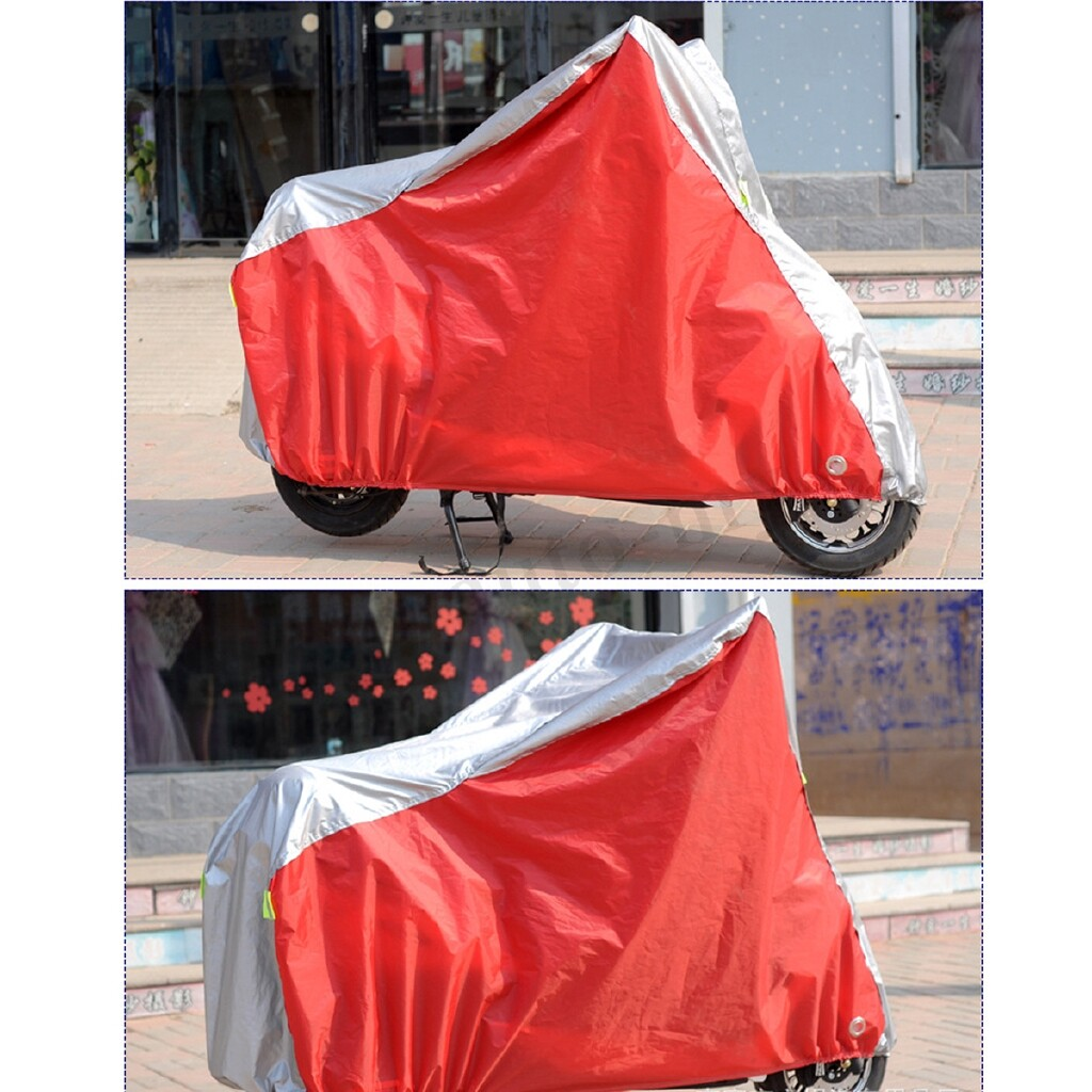 Moto Accessories - Motorcycle Cover Waterproof Outdoors Rain UV Dustproof Scooter Protector - XXXL(265X115X127) / XXL(255X105XX127) / XL(246X105X127)