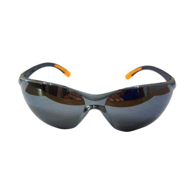 Glass Welding Eye Glass Safety - Super Black / Black Silver Mirror (6Pcs)