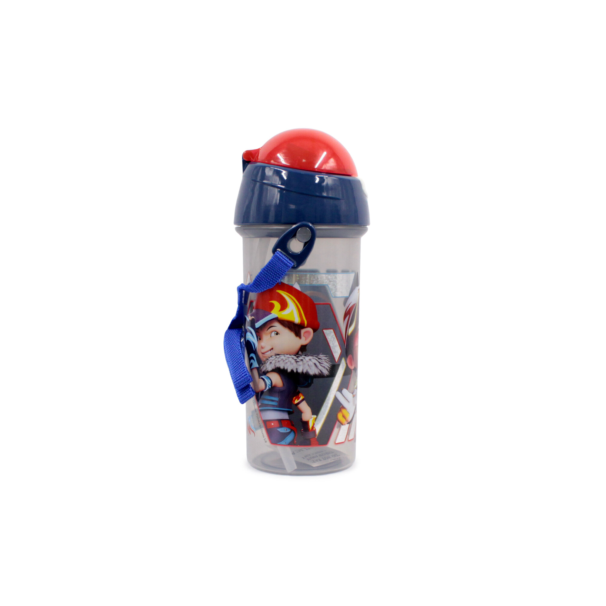 Boboiboy Children 600Ml Water Bottle With Straw - Blue Colour