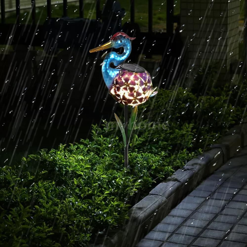 Outdoor Lighting - Pelican-shaped Solar LEDs Lawn Light Garden Decoration Warm Lights Atmosphere Landscape Lamp - MULTICOLOR