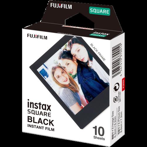 FUJIFILM INSTAX SQUARE Black Instant Film (10 Exposures)