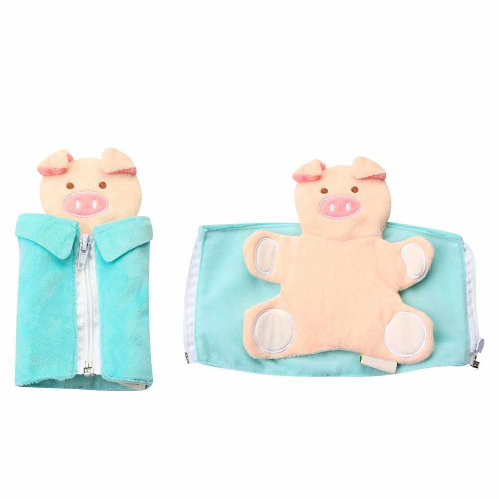 People's Choice Early Learning Cartoon Pig Model Wearing Clothes Dressing Clothes Baby Kids Educational Toy (Green)