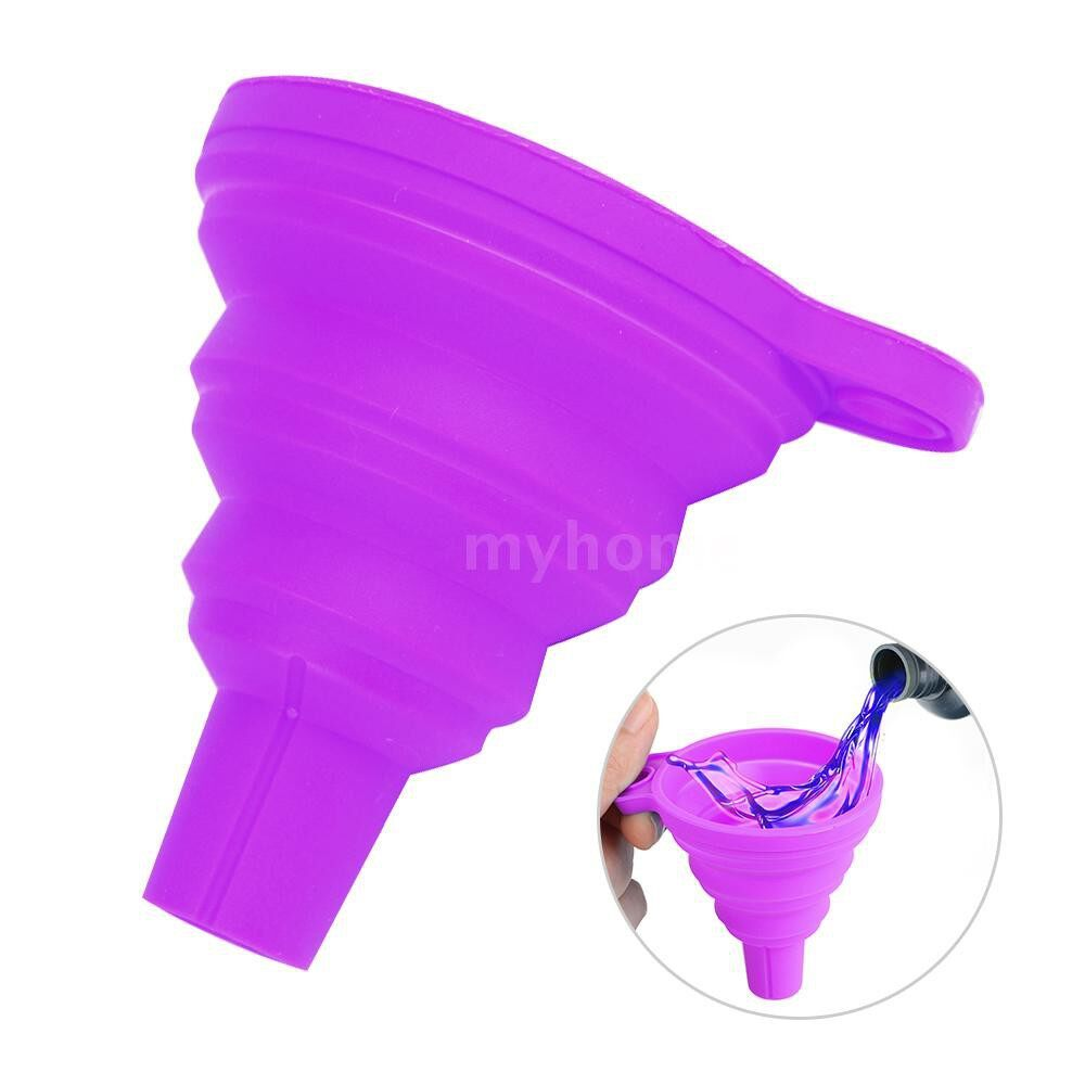 Printers & Projectors - Collapsible Small Funnel Silicone Foldable Funnels for Pouring Resin Back Into Bottle 3D Printer - PURPLE / BLUE / YELLOW / ORANGE / GREEN