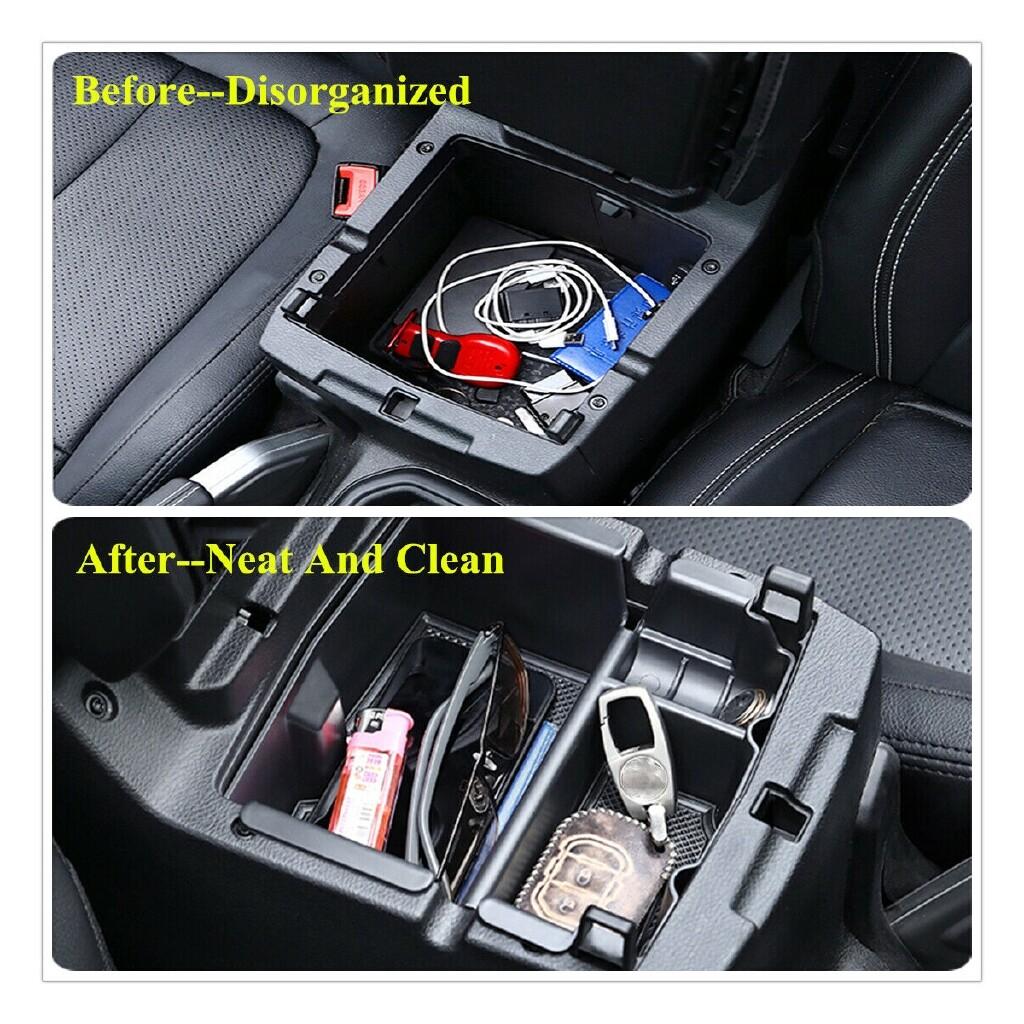 Automotive Tools & Equipment - Car Armrest Storage Box Case Center Interior center console tray For Jeep Wrangler JL/JLU - Car Replacement Parts