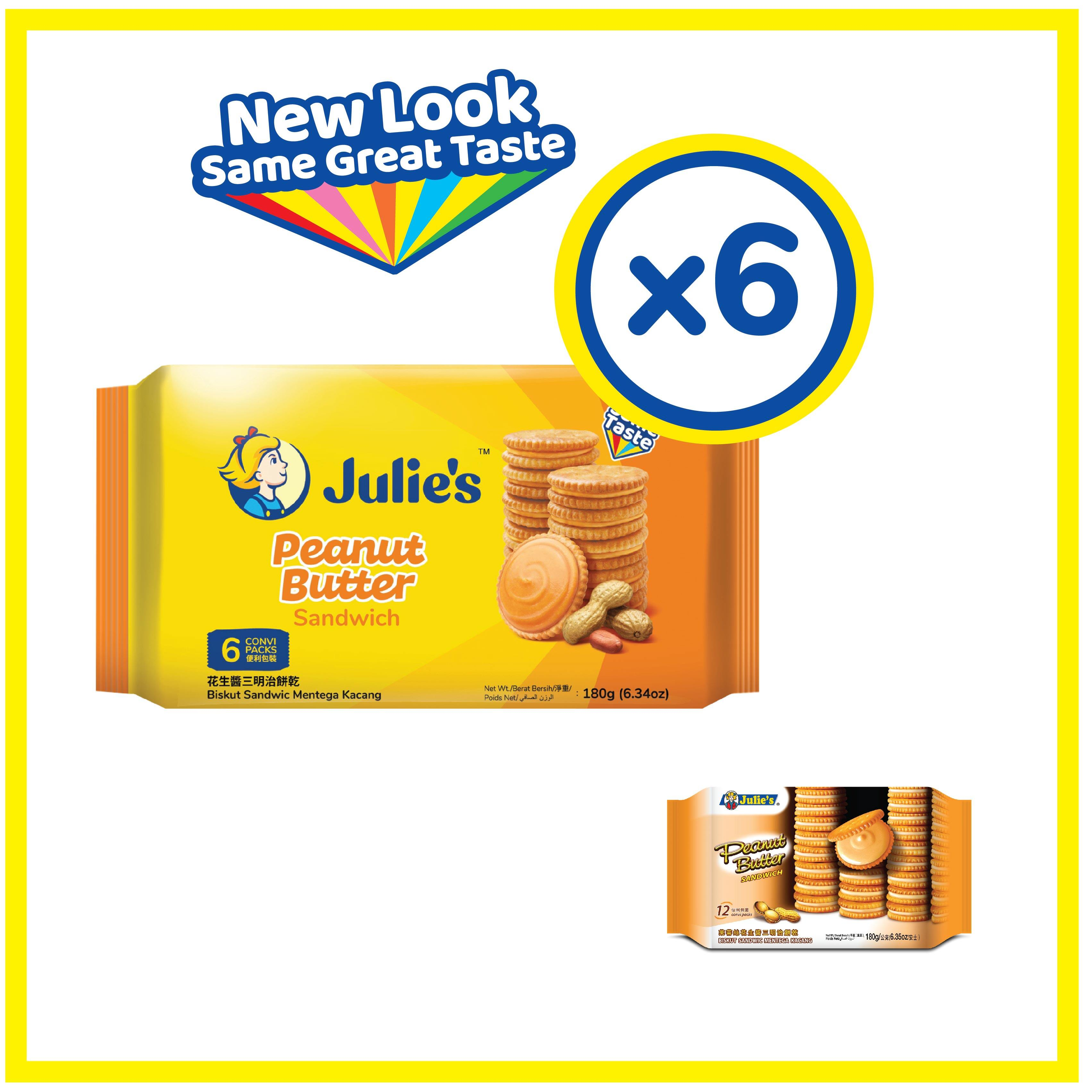 Julie's Peanut Butter Sandwich 180g x 6 pack