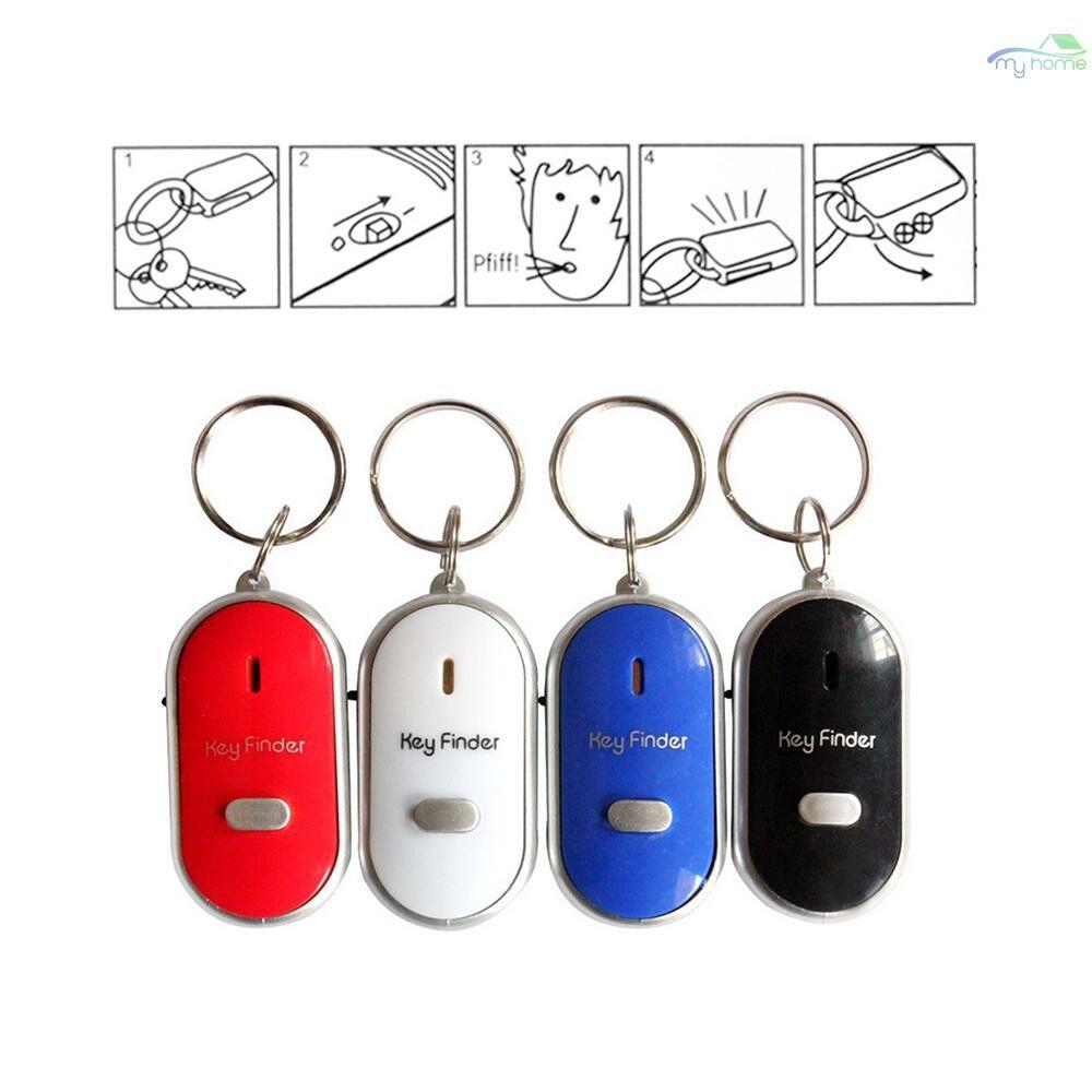 Sensors & Alarms - MINI LED Light Anti-lost Whistle Key Finder Flashing Beeping Kids Bag Wallet Phone Key Car Motor - WHITE / BLACK / RED / BLUE