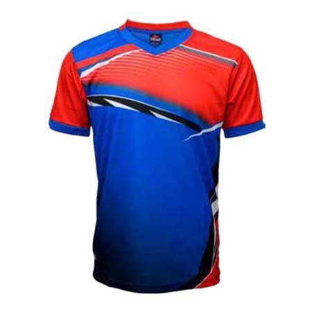 ESPANA Unisex Senior Colour Sublimation Jersey ESP10 (Red/Blue)