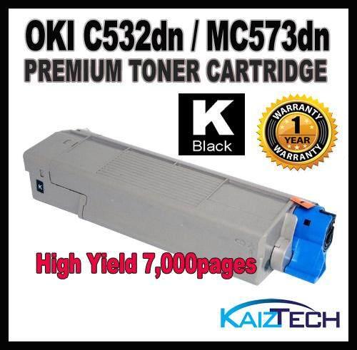 (Black) OKI / Okidata C532 C542 MC573 MC563 Toner Cartridge For Okidata Color LaserJet C532dn C 532dn / C542dn C 542dn / MC573dn MC 573dn / MC563dn MC 563dn