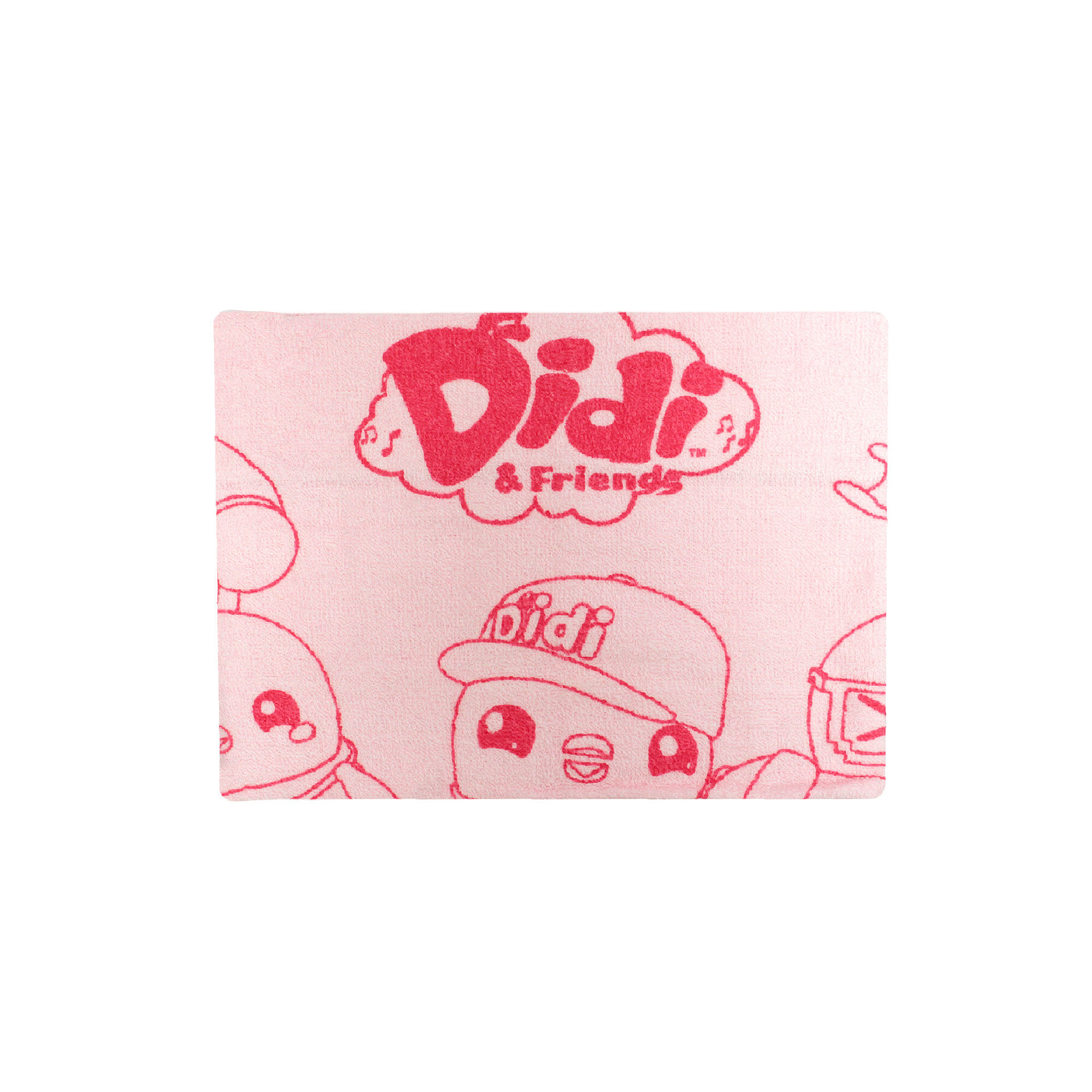 Didi & Friends 2 In 1 Baby Bath Towel- Pink Colour