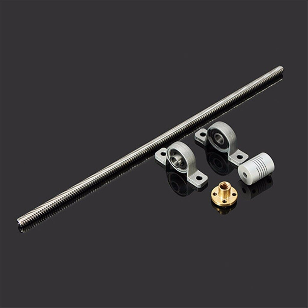 Cool Gadgets - 8mm T8 Lead Screw Rod 300mm W/ Nut Shaft Coupling Bearing Mou - Mobile & Accessories
